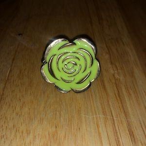 Green Rose Fashion Ring